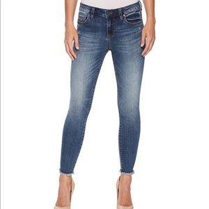 Kut Connie Ankle Skinny stretch Fray Hem jeans